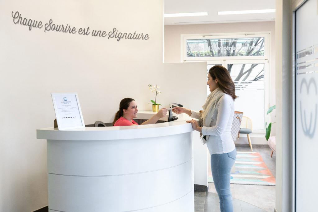 accueil du centre dentaire Champel